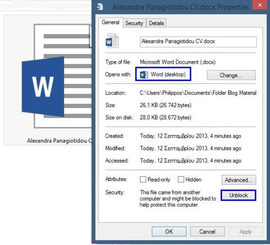 how to unlock word document 2013
