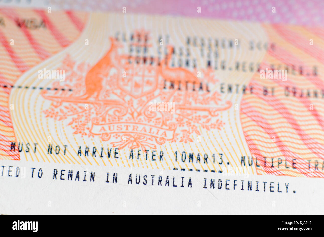 travel document australian permanent resident
