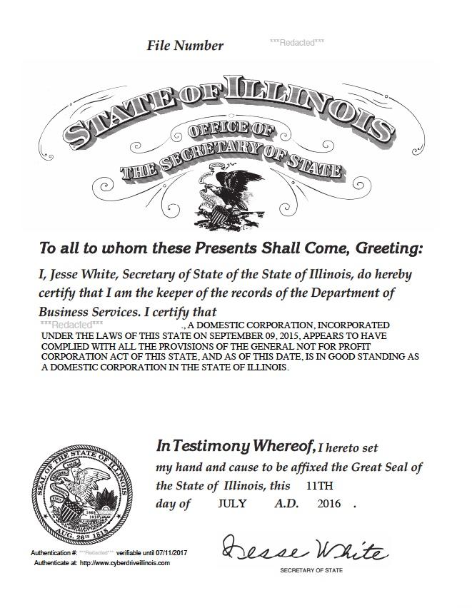 illinois secretary of state document authentication