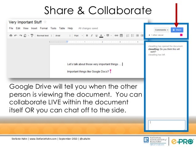 collaboration on document on google hangout
