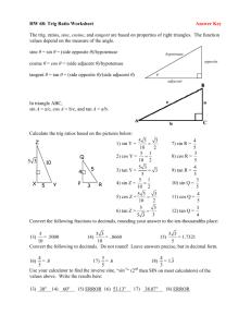 trig cheat sheet word document