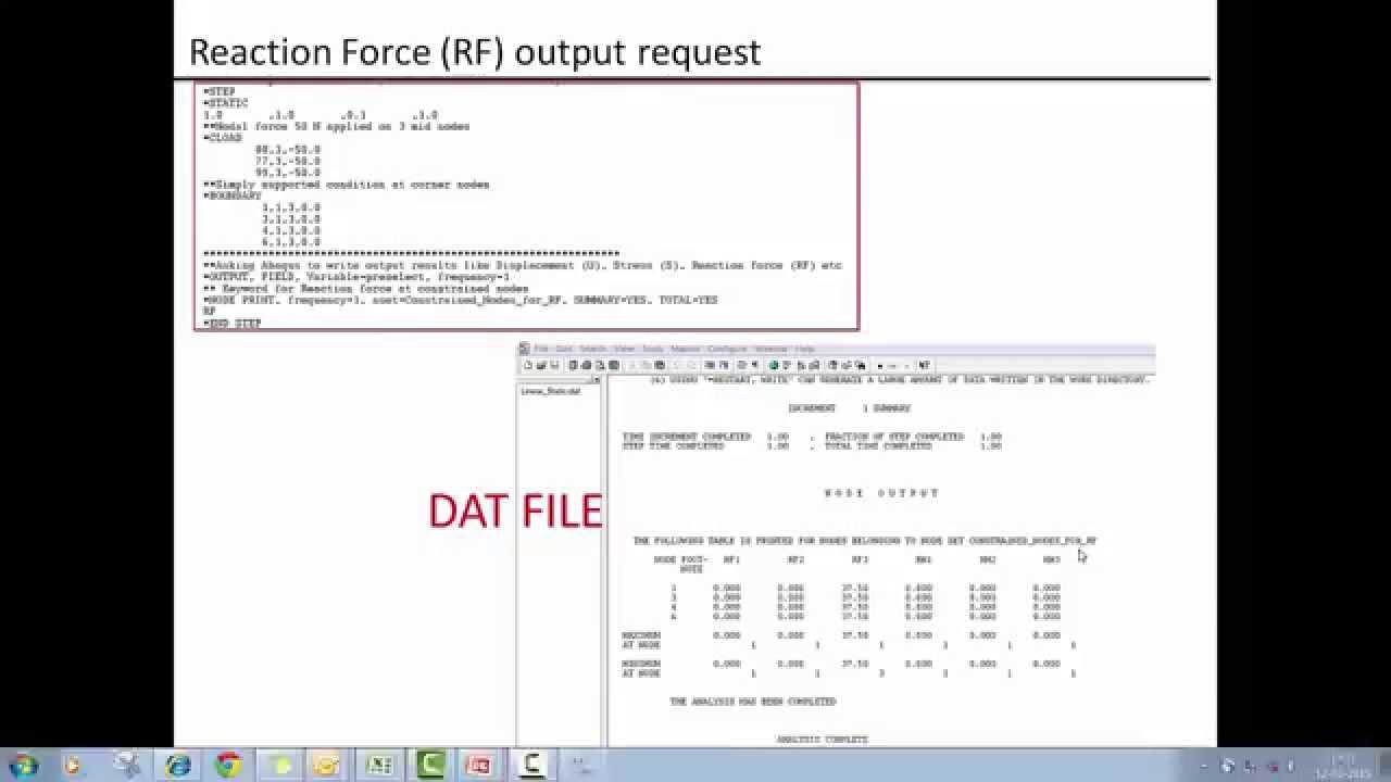 abaqus input file documentation