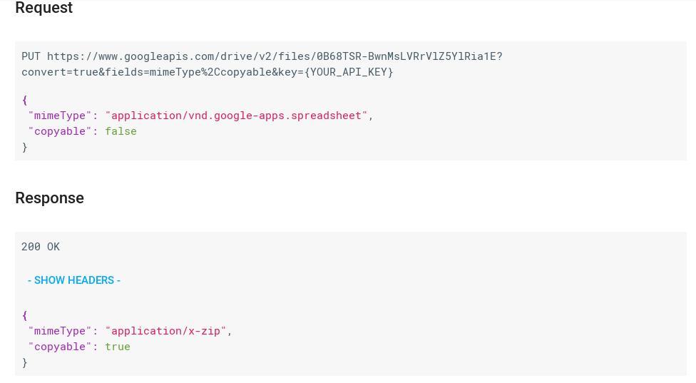 unable to convert document google doc