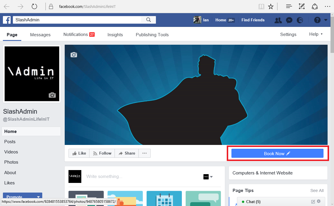 how to add a document to a facebook page