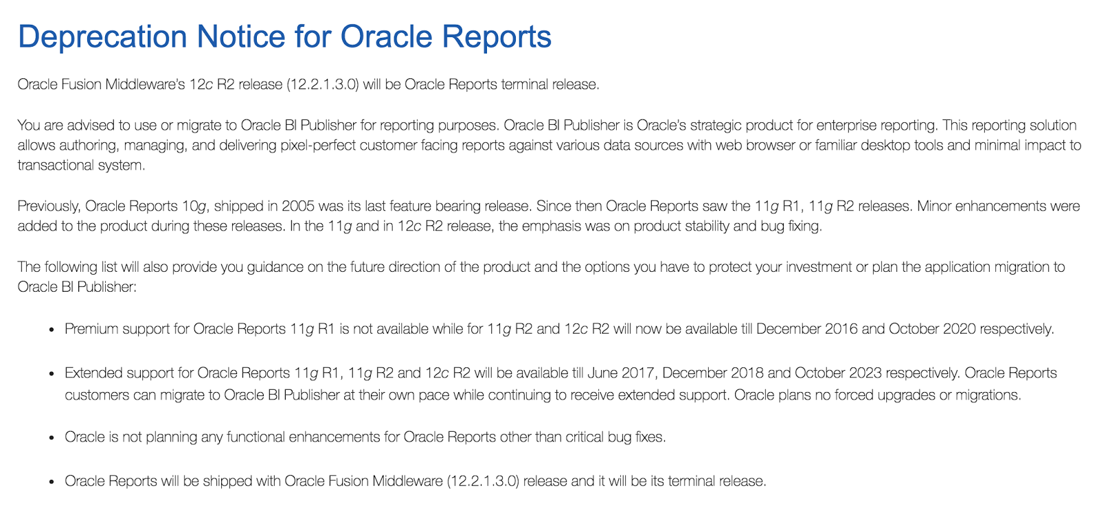 oracle 12.2 6 documentation