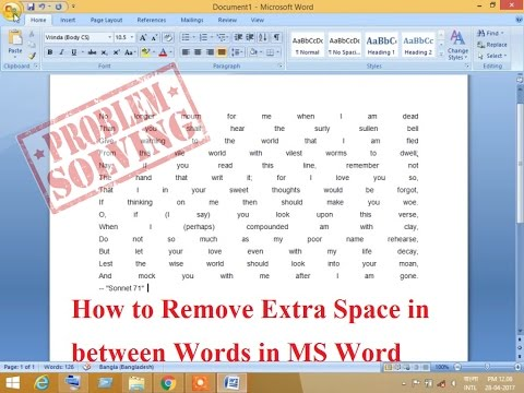 how to remove space in a word document