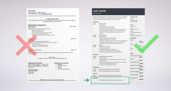 master list and explain of each section of portfolio document