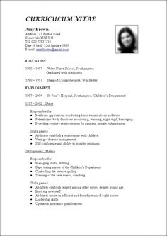 word document curriculum vitae template
