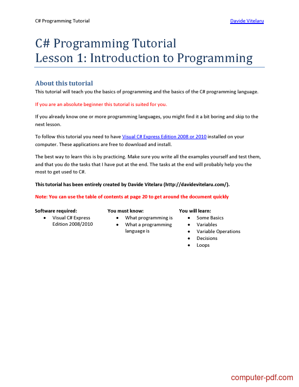 c programming documentation pdf