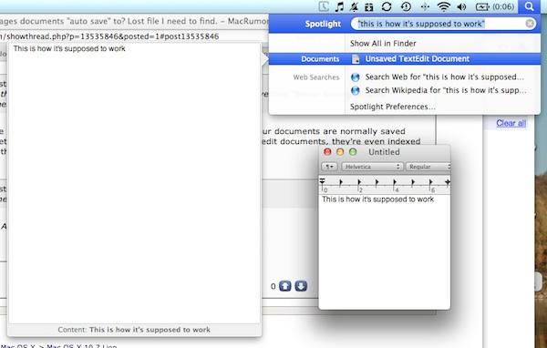 retrieve unsaved untitled textedit document