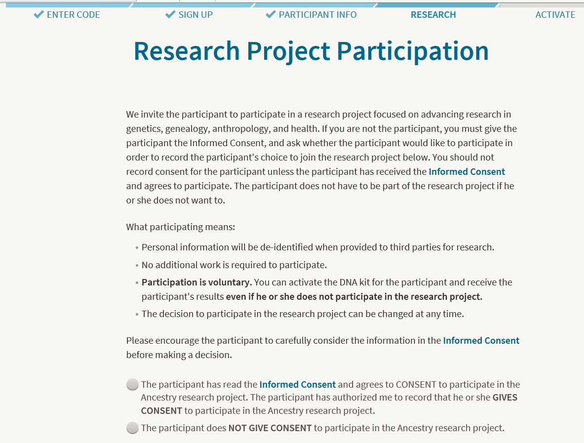 genetic informed consent document review