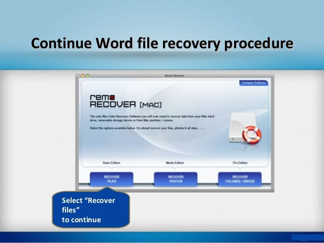 how to restore word document mac