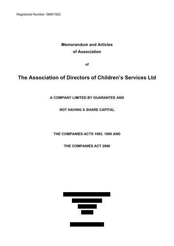 document presentation memorandum of association
