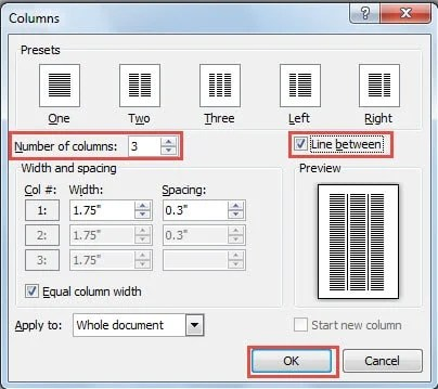 how to insert rows and columns into a word document