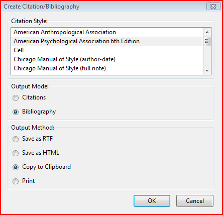 how to cite the word document in endnote