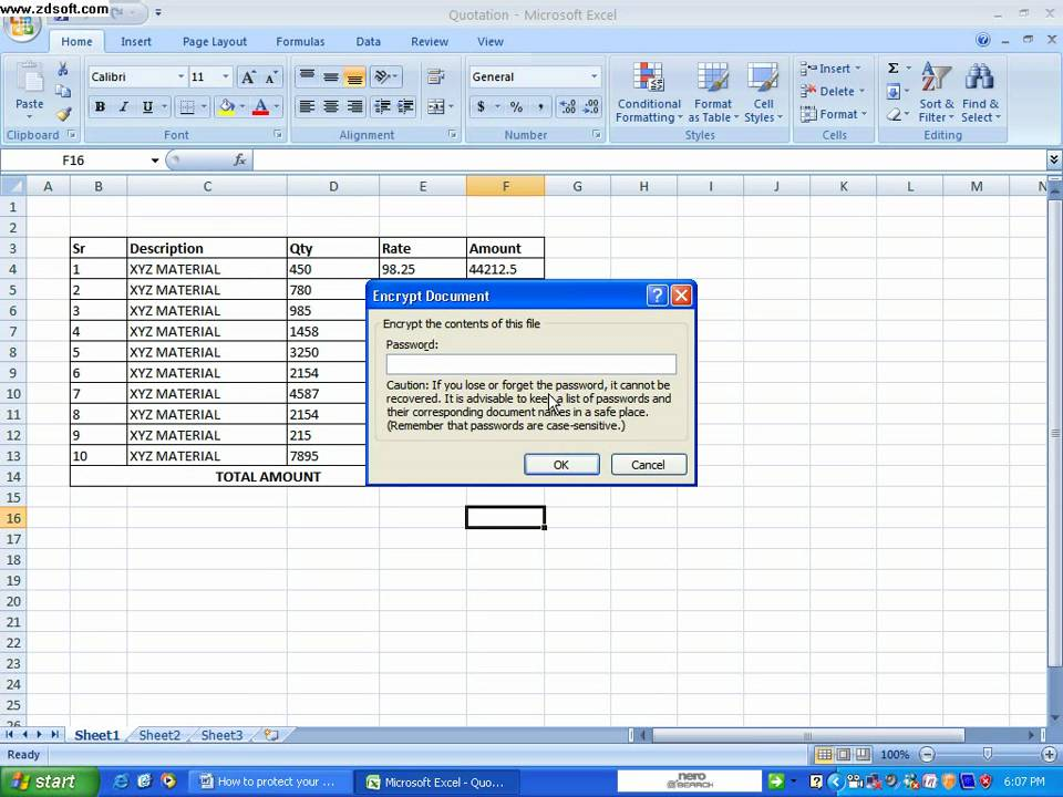 how to protect an excel document