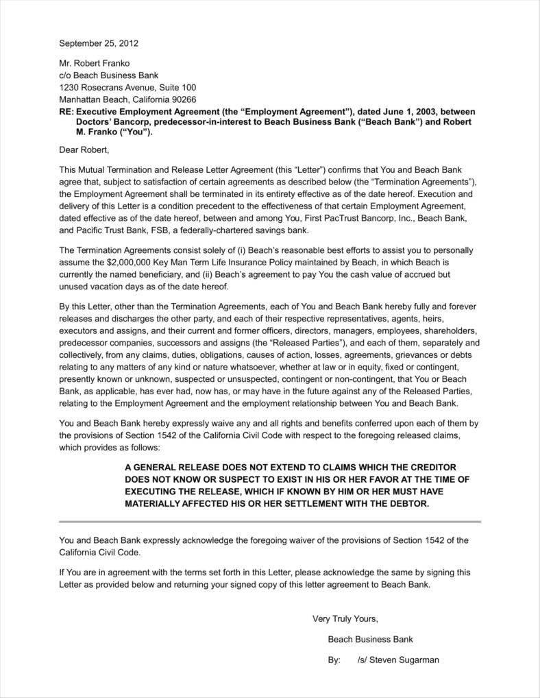 termination of common law document ontario
