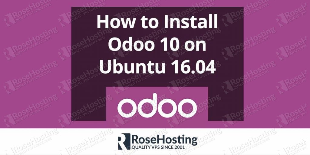 odoo 10 install documentation