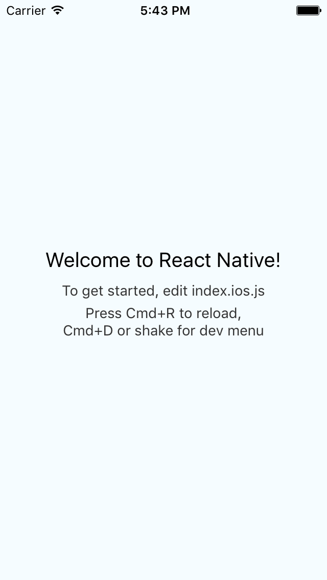 xcode project document facebook organization react native