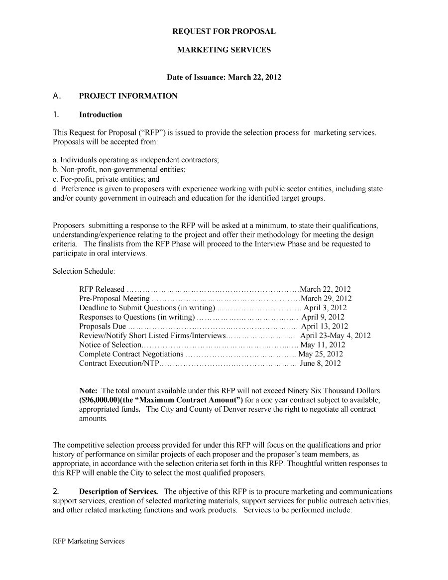 what is an rfp document