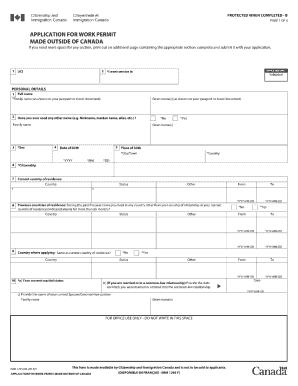 application form travel document canada