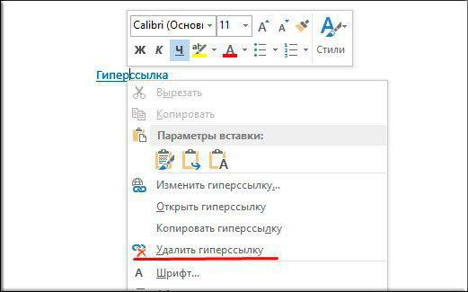 word remove all links in document