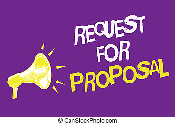request for proposal document meaning