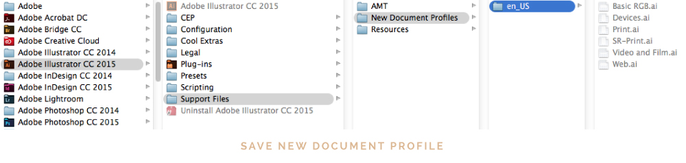 change document profile in illustrator