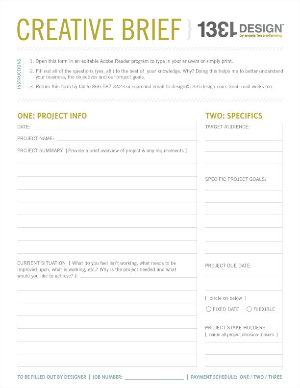 creative brief template word document