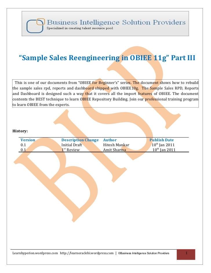 obiee 11g documentation ppt