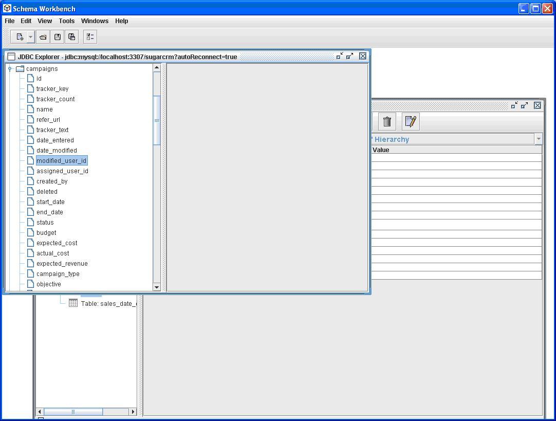 database schema documentation template