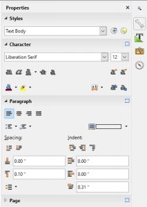 libre office document avec double page