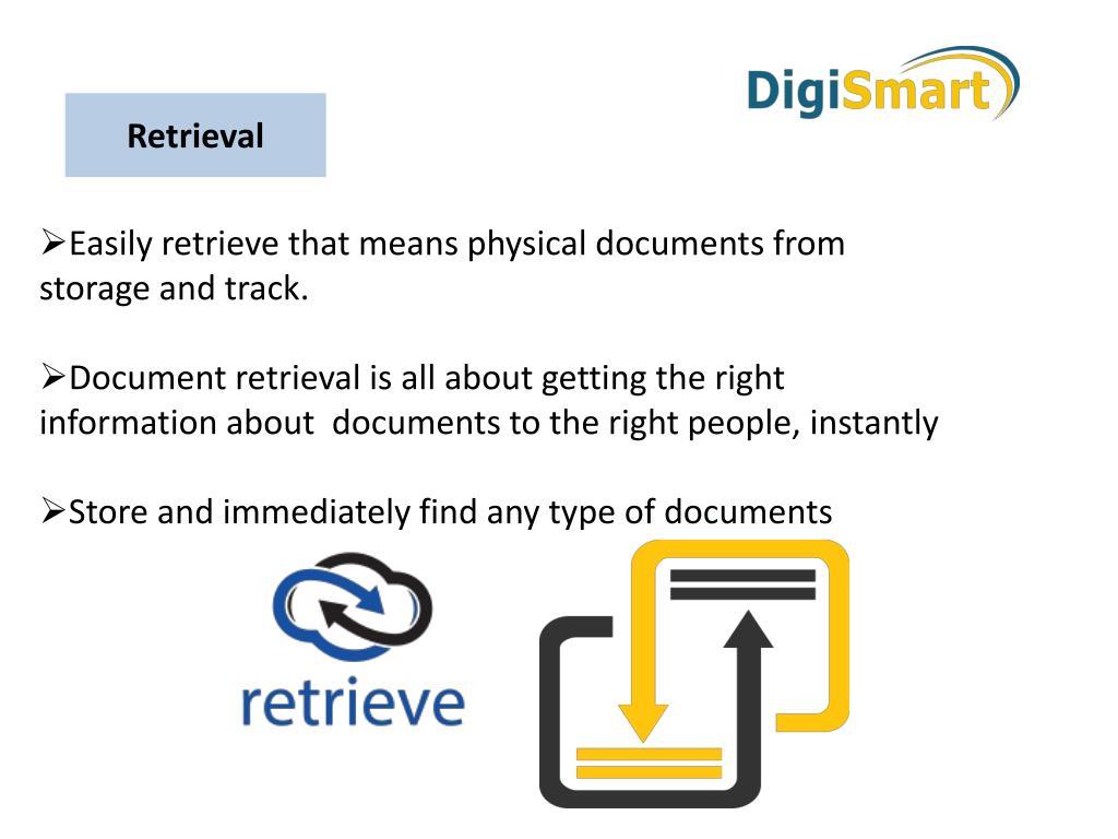document storage and retrieval process