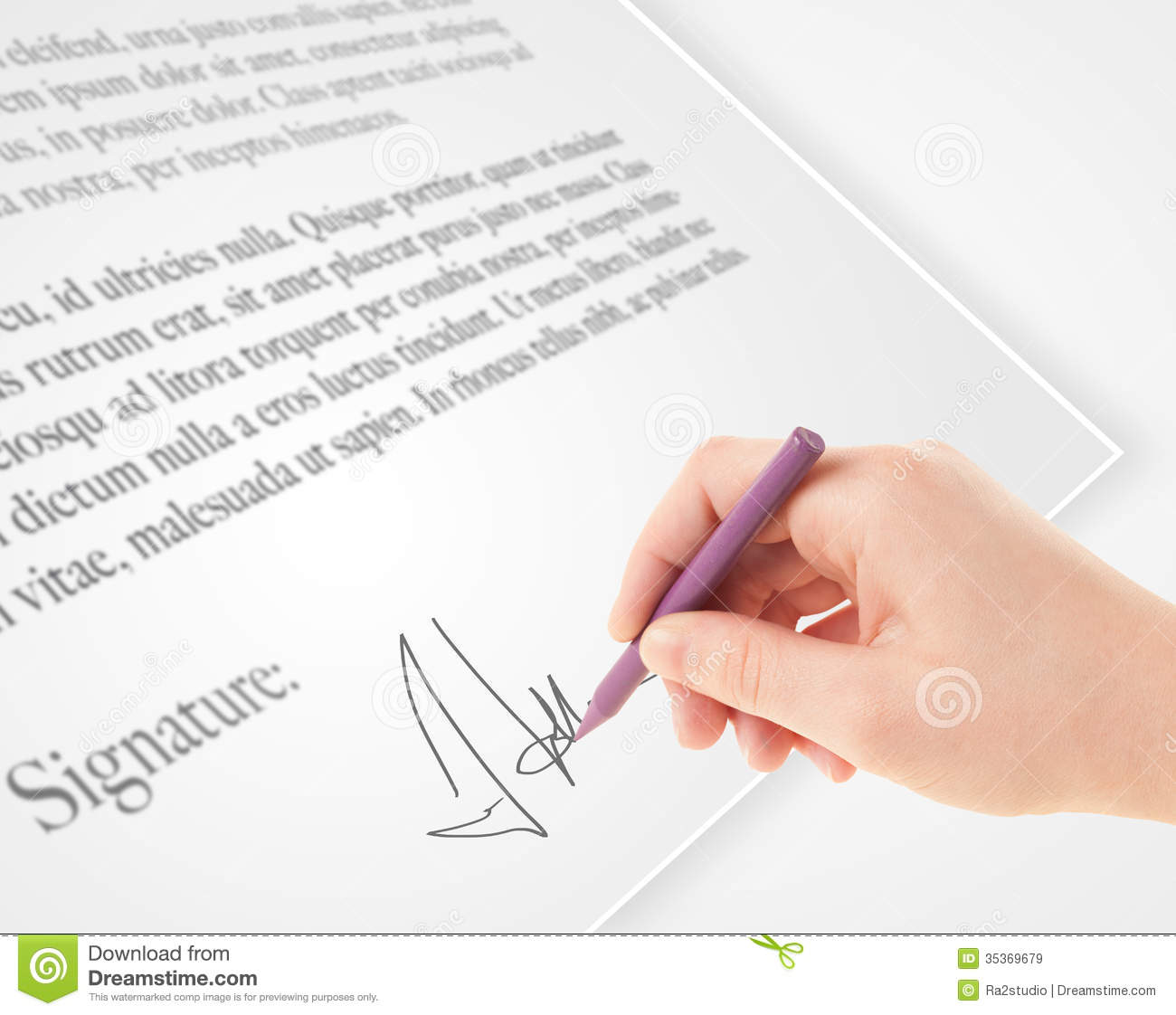 writing vs on legal document