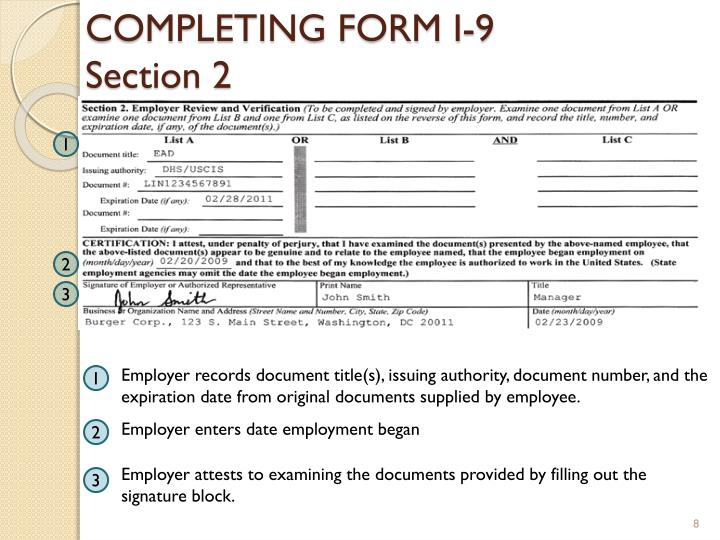 employment authorization card document number