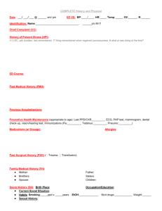 heent physical exam documentation