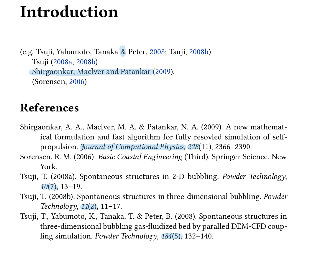 how should a citation look in a document
