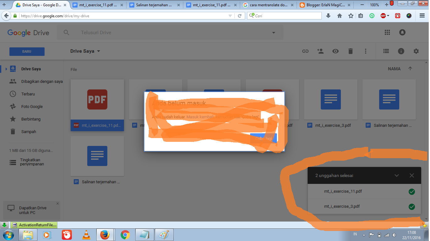 how to chat in google drive pdf document