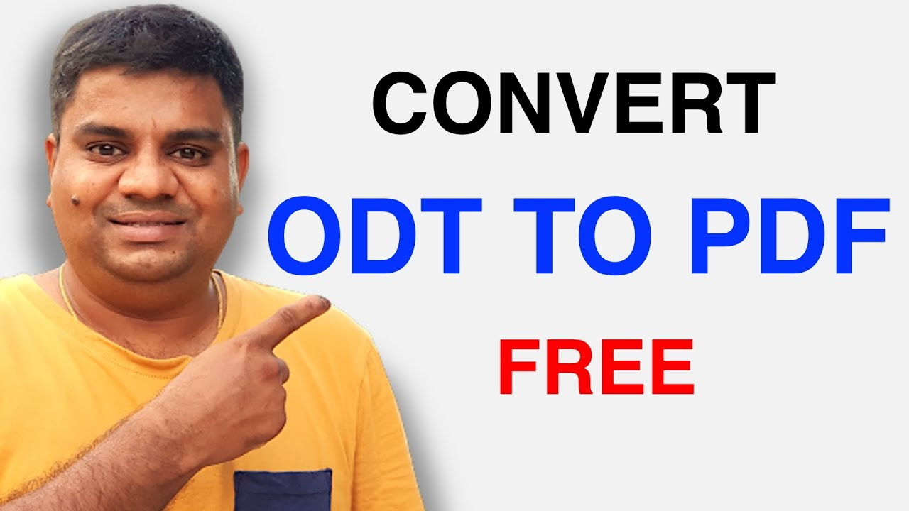 how to convert odt document to pdf