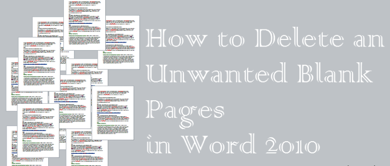 how to delete an empty page in a word document