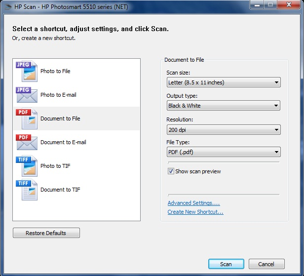 how to scan multiple pages into one document hp