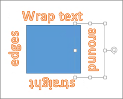 inset text onto a shape on a word document