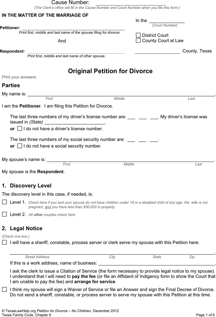 is a petition a legal document