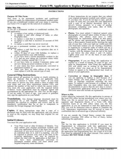 permanent resident travel document application