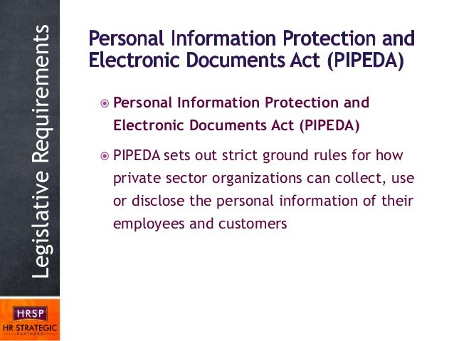 personal information and leectronics document act ontario