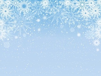 snowflake background for word document