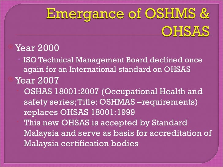 the oh&s act is a document that